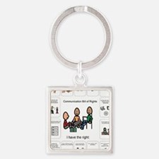 AAC Bill of Rights Square Keychain