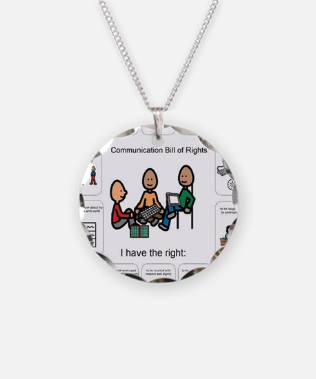 AAC Bill of Rights Necklace Circle Charm