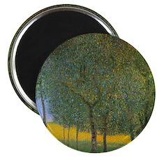 Fruit Trees by Gustav Klimt Magnet