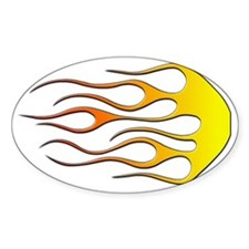 Cool Car Flames Decal