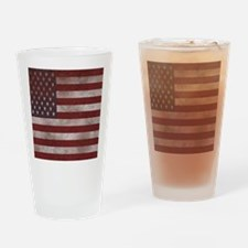 Distress Textured American flag Drinking Glass