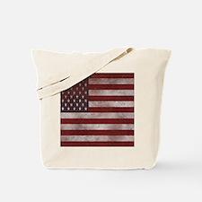 Distress Textured American flag Tote Bag