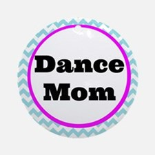 Dance Mom Car Magnet (blue/white/pi Round Ornament