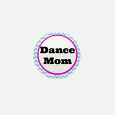 Dance Mom Car Magnet (blue/white/pink) Mini Button