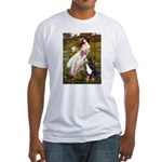 Windflowers & Bernese Fitted T-Shirt