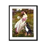 Windflowers & Bernese Framed Panel Print