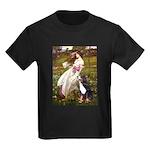 Windflowers & Bernese Kids Dark T-Shirt
