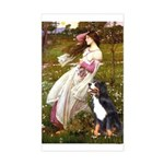 Windflowers & Bernese Rectangle Sticker