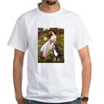 Windflowers & Bernese White T-Shirt