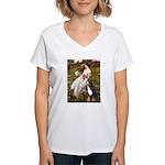 Windflowers & Bernese Women's V-Neck T-Shirt