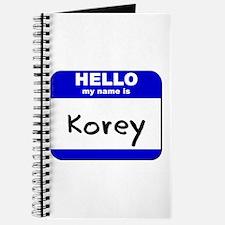 hello my name is korey Journal