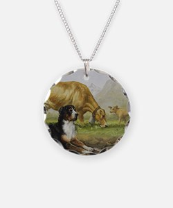 Greater Swiss Mountain Dog a Necklace