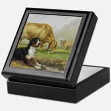 Greater Swiss Mountain Dog and Brown  Keepsake Box