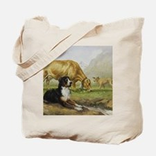 Greater Swiss Mountain Dog and Brown Swis Tote Bag
