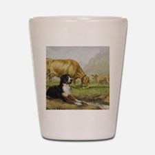 Greater Swiss Mountain Dog and Brown Sw Shot Glass