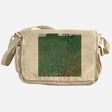 Poppy Field by Gustav Klimt Messenger Bag
