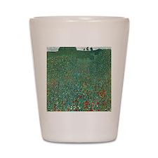 Poppy Field by Gustav Klimt Shot Glass