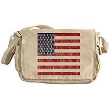 Distressed American Flag Messenger Bag