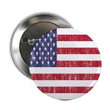 "Distressed American Flag 2.25"" Button"