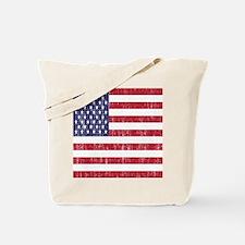 Distressed American Flag Tote Bag