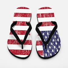 Distressed American Flag Flip Flops