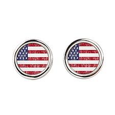 Distressed American Flag Cufflinks