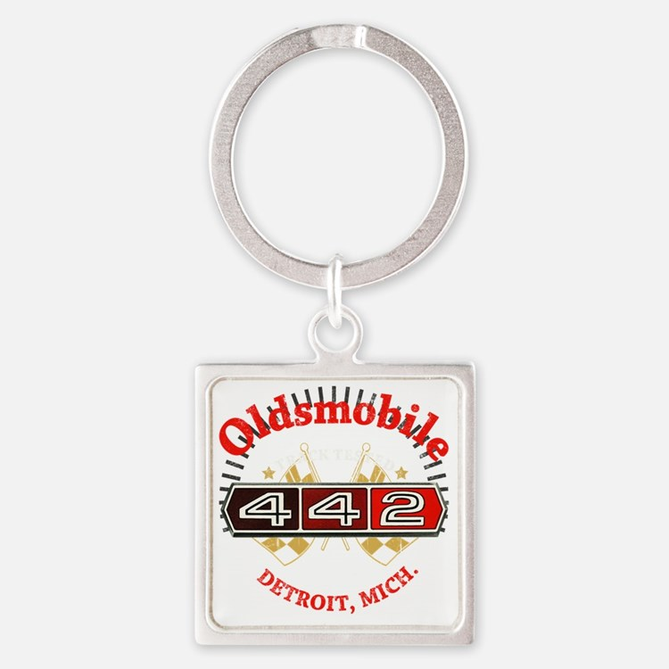 Olds 442 Muscle dark Square Keychain