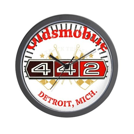 Olds 442 Muscle dark Wall Clock
