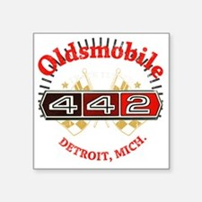 "Olds 442 Muscle dark Square Sticker 3"" x 3"""