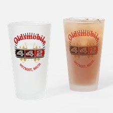 Olds 442 Muscle dark Drinking Glass