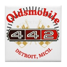 Olds 442 Muscle dark Tile Coaster