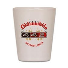 Olds 442 Muscle dark Shot Glass