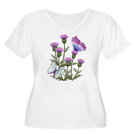 Thistles and Butterflies Women's Plus Size Scoop N