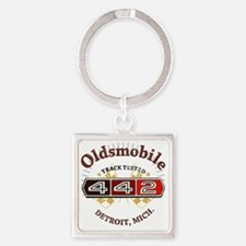 Olds 442 Muscle Square Keychain