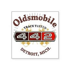 """Olds 442 Muscle Square Sticker 3"""" x 3"""""""