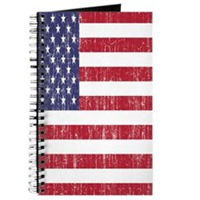 Distressed American Flag Journal