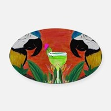 Parrot head Oval Car Magnet
