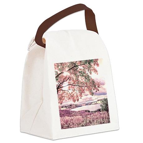 Autumn Landscape Canvas Lunch Bag