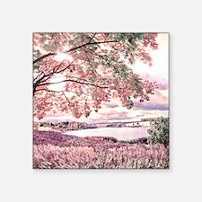 """Autumn Landscape Square Sticker 3"""" x 3"""""""