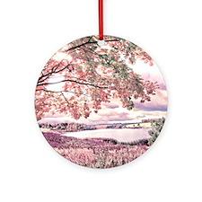 Autumn Landscape Round Ornament
