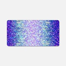 Glitter 2 Aluminum License Plate