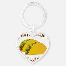 I Hate Tacos Heart Keychain