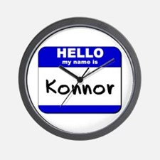 hello my name is konnor  Wall Clock