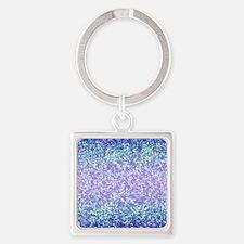 Glitter 2 Square Keychain