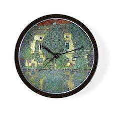 Schloss Kammer By Gustav Klimt Wall Clock