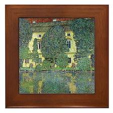 Schloss Kammer By Gustav Klimt Framed Tile