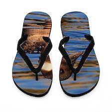 Buffalo Head Duck Flip Flops