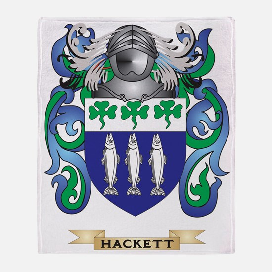 Hackett Coat of Arms (Family Crest) Throw Blanket
