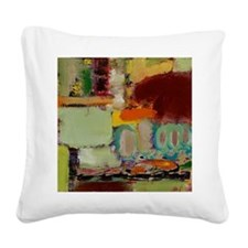 Over There Square Canvas Pillow