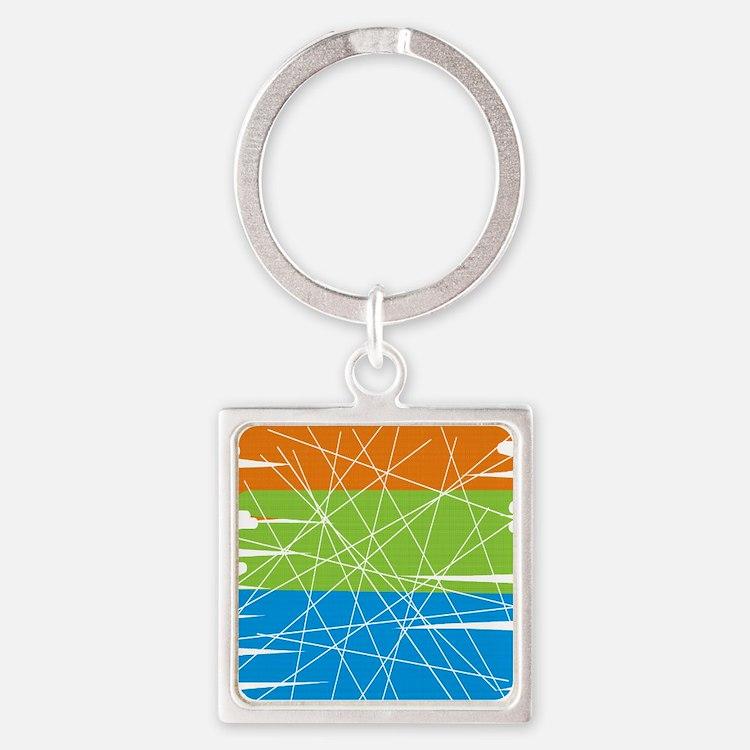 MCM Art 3 Square Keychain
